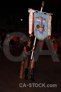 Moors flag christian javea costume.