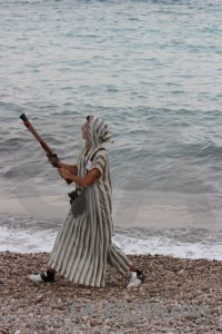 Moors gun christian costume beach.