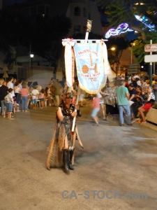 Moors person christian costume fiesta.