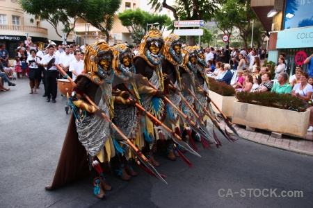 Moors person fiesta javea spear.