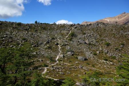 Moraine huemul glacier argentina rock el chalten.