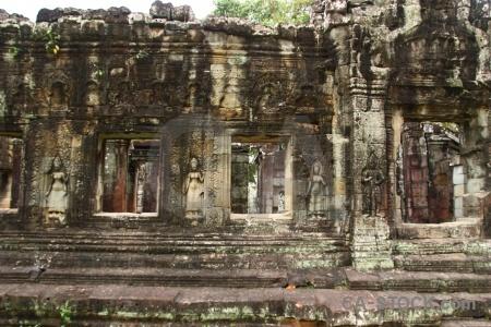 Moss southeast asia temple buddhist window.