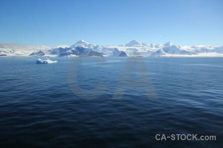 Mountain adelaide island sea landscape antarctica.