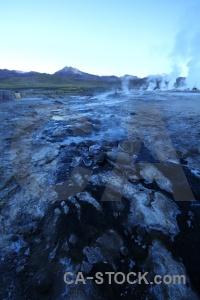 Mountain andes el tatio geyser chile.