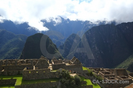 Mountain andes grass sky machu picchu.