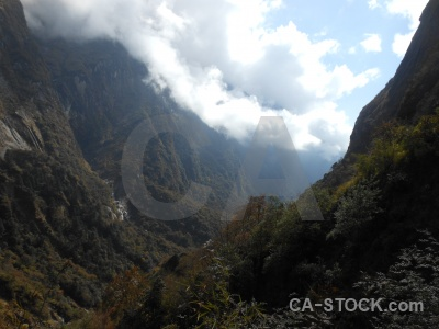 Mountain annapurna sanctuary trek valley asia south.