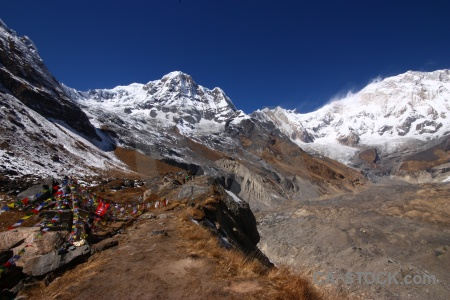 Mountain annapurna south valley nepal altitude.