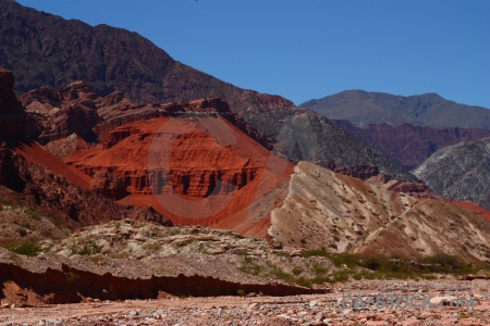 Mountain argentina calchaqui valley quebrada de cafayate landscape.