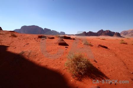 Mountain asia landscape wadi rum jordan.