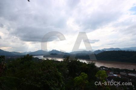 Mountain asia sky luang prabang mount phou si.