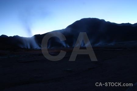 Mountain atacama desert geyser chile landscape.