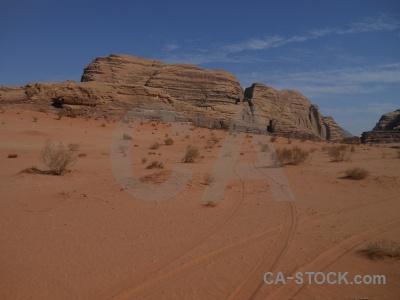 Mountain bedouin rock desert sand.
