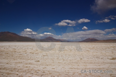 Mountain bolivia altitude landscape salt.