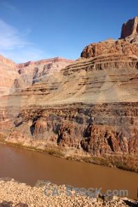 Mountain brown rock landscape blue.
