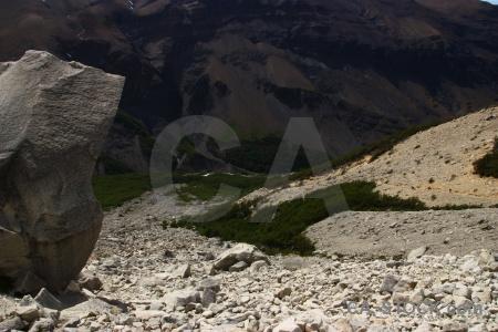 Mountain circuit trek patagonia chile stone.