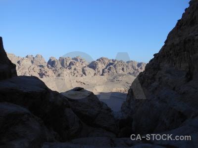 Mountain cliff asia sky archaeological.