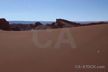 Mountain cordillera de la sal chile valle luna sand.