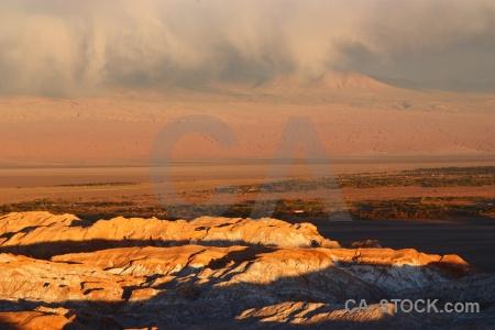 Mountain cordillera de la sal rock atacama desert south america.