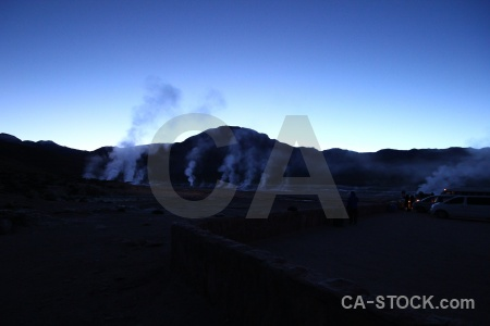 Mountain el tatio landscape sky south america.