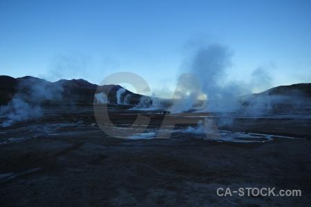 Mountain geyser south america atacama desert el tatio.