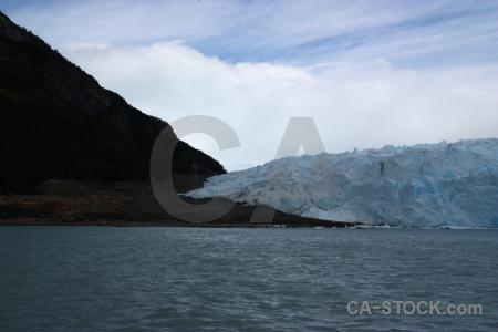 Mountain ice lake argentino argentina cloud.
