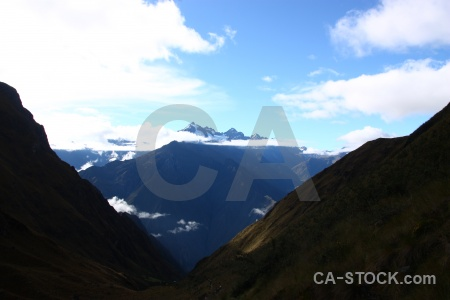 Mountain inca trail andes peru.