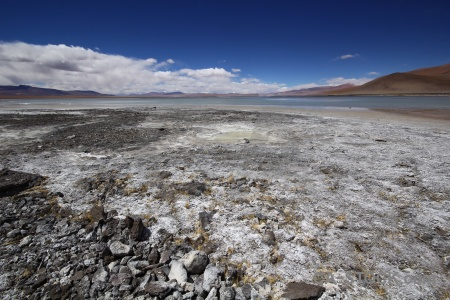 Mountain laguna chalviri bolivia landscape water.