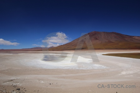 Mountain laguna verde sky andes south america.