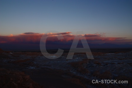 Mountain landscape cordillera de la sal cloud chile.