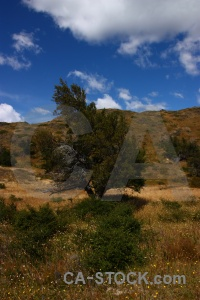 Mountain landscape patagonia sky field.
