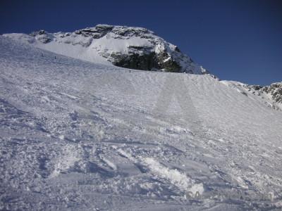 Mountain landscape snow blue.