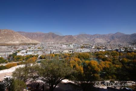 Mountain lhasa altitude building asia.