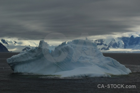 Mountain marguerite bay snow cloud antarctica.