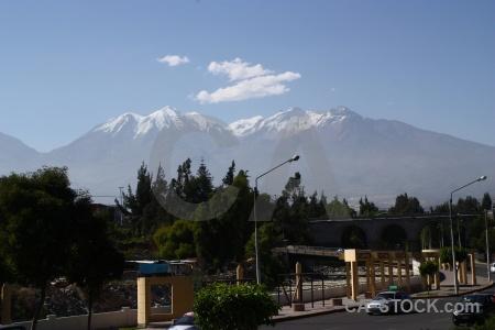 Mountain peru snowcap arequipa landscape.