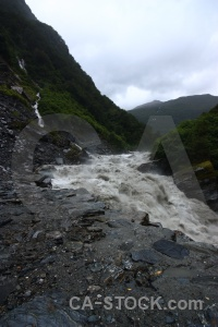 Mountain rapid gates of haast rock river.
