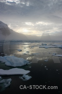 Mountain reflection channel antarctic peninsula gunnel.