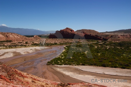 Mountain river argentina quebrada de cafayate grass.