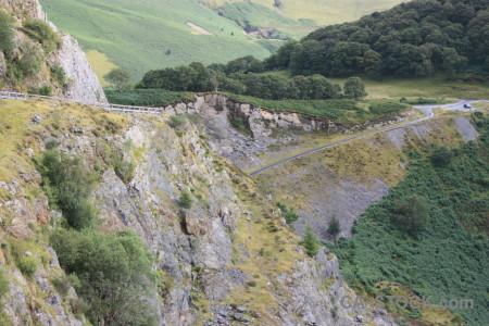 Mountain rock green landscape.