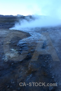 Mountain rock pool geyser el tatio.