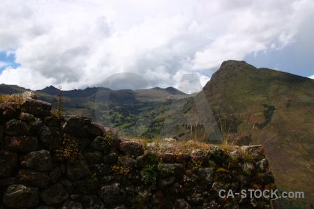 Mountain sacred valley landscape south america wall.