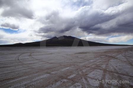Mountain salar de chiguana landscape andes cloud.