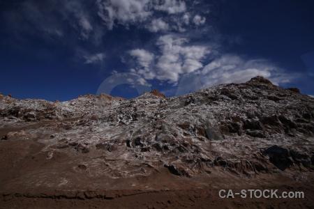 Mountain salt cloud south america chile.