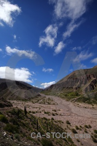 Mountain salta tour landscape valley south america.