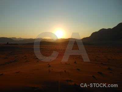 Mountain sand sunset middle east rock.
