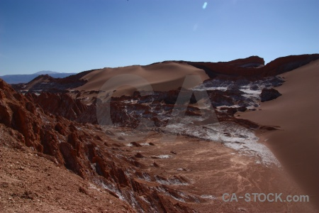 Mountain sky atacama desert valley of the moon chile.