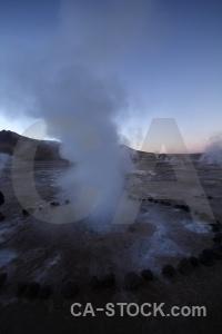 Mountain sky geyser chile atacama desert.