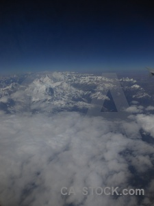 Mountain sky snowcap everest asia.