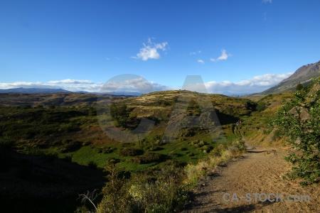 Mountain sky south america patagonia grass.