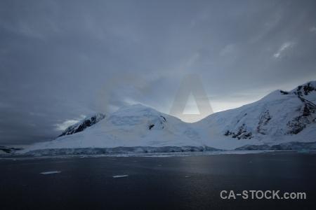 Mountain snowcap antarctic peninsula ice snow.