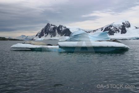 Mountain snowcap marguerite bay antarctica day 5.